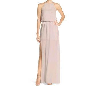 Show Me Your Mumu TaupeHeather Halter Dress Size M